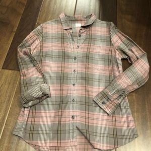 Jcrew grey & pink button down size m - EUC
